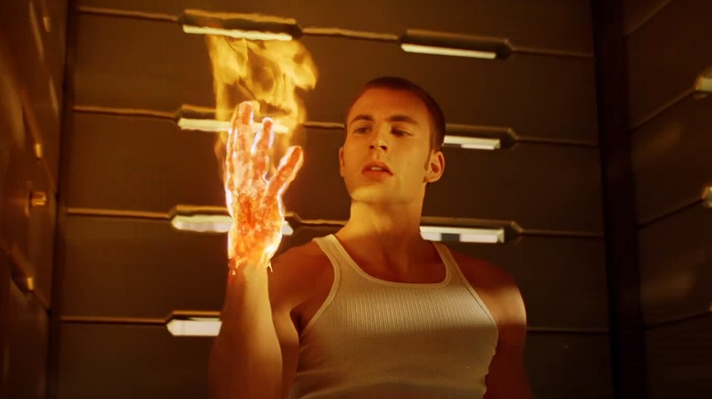 Chris Evans as the Human Torch