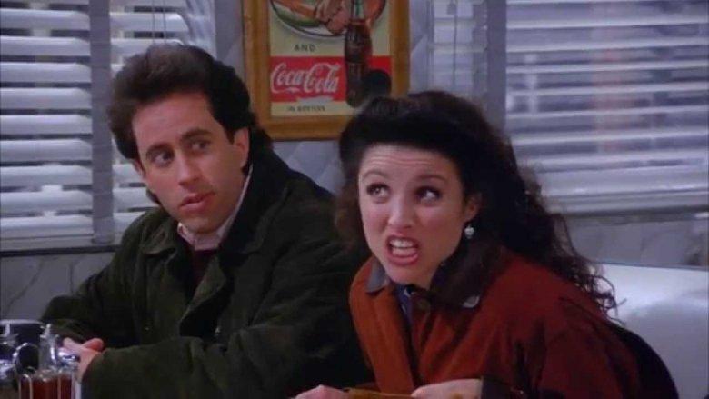 Elaine makes a face