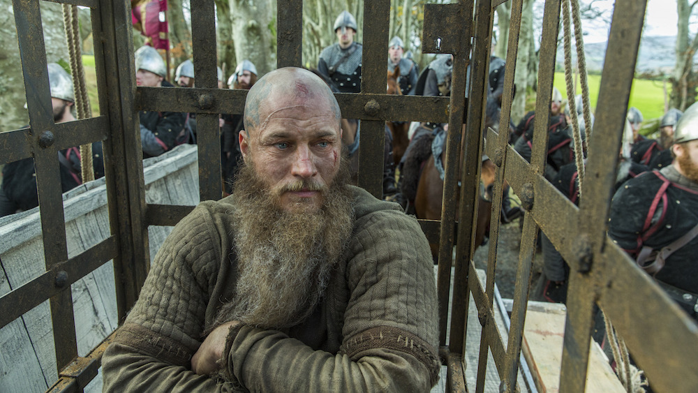 Ragnar on his way to the snake pit