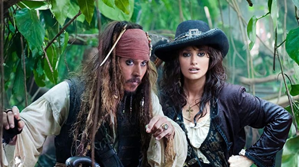 (from left to right) Johnny Depp as Jack Sparrow, Penelope Cruz as Angelica