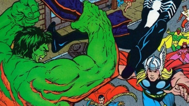 Hulk, Spider-Man, Star Fox, Doctor Strange, Vision, Scarlet Witch, and Thor