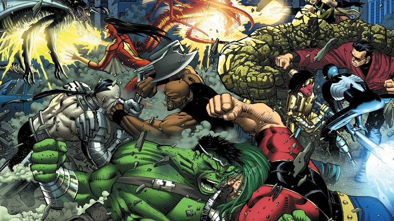 Hulk and the Warbound vs. the Avengers in World War Hulk #2