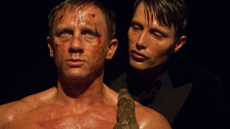 Daniel Craig and Mads Mikkelsen in Casino Royale