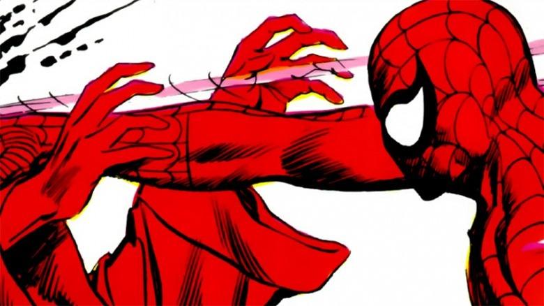 Spider-Man punching