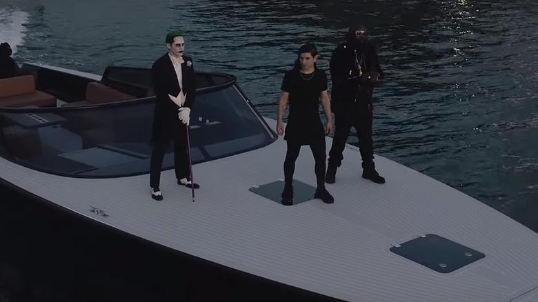 Jared Leto as the Joker, Skrillex as Skrillex, Rick Ross as Rick Ross in Purple Lamborghini