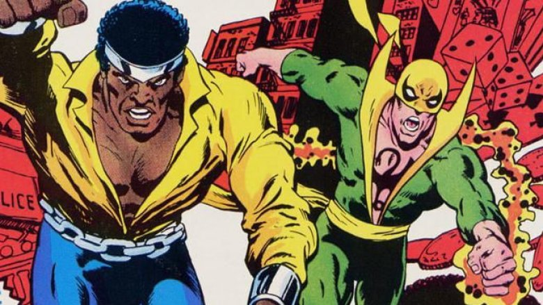 Luke Cage and Danny Rand in Heroes for Hire