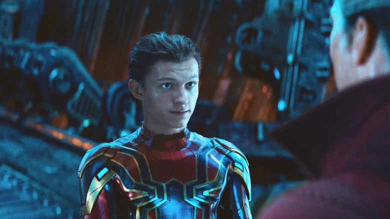Tom Holland as Spider-Man in Avengers: Infinity War