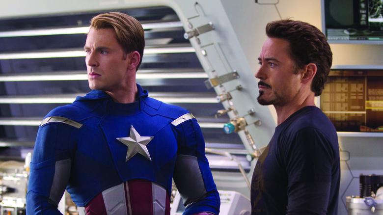 Chris Evans and Robert Downey Jr.