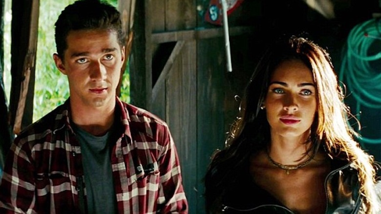 Shia LaBeouf and Megan Fox in Transformers