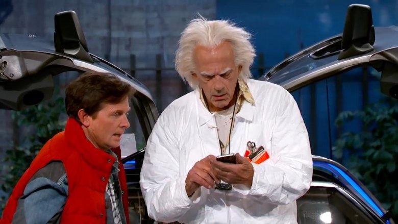 Christopher Lloyd and Michael J. Fox on Jimmy Kimmel Live