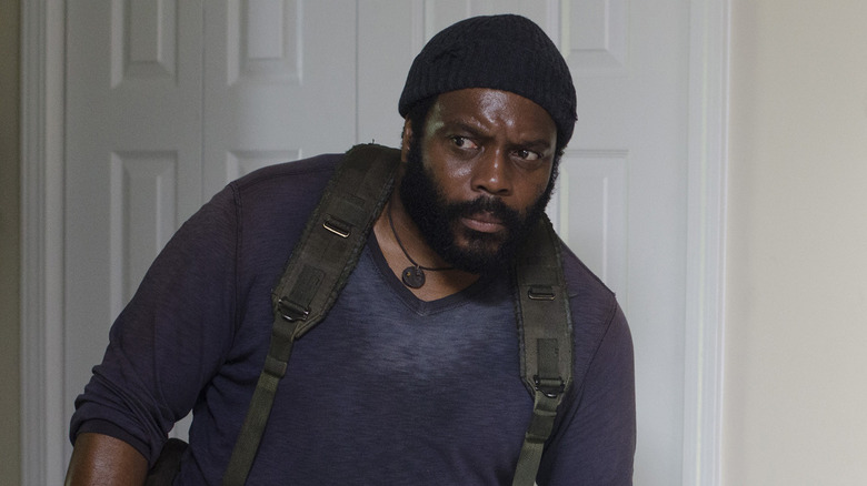 Tyreese checks for walkers