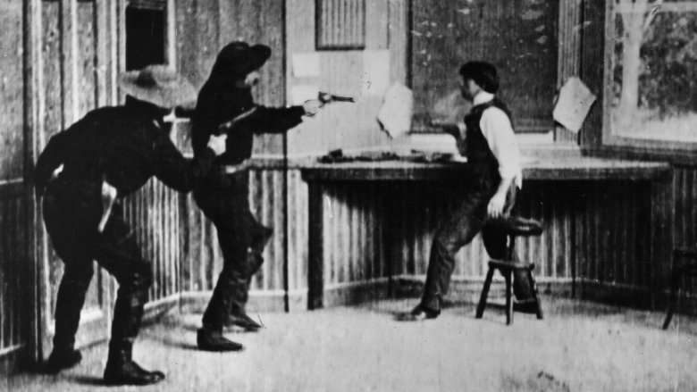 Scene from The Great Train Robbery