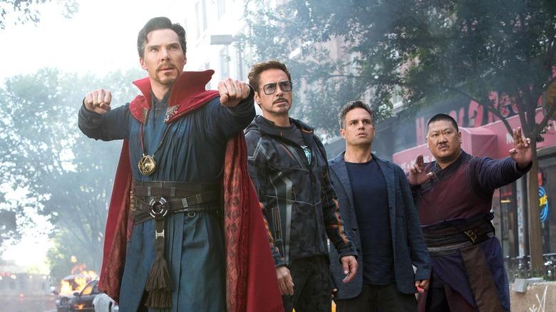 Iron Man, Doctor Strange, Bruce Banner, and Wong