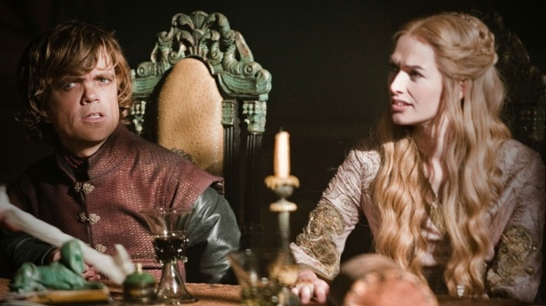 Tyrion Lannister and Cersei Lannister