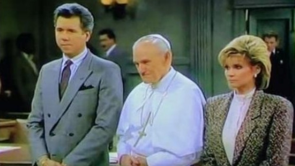 John Larroquette, Markie Post, and Pope