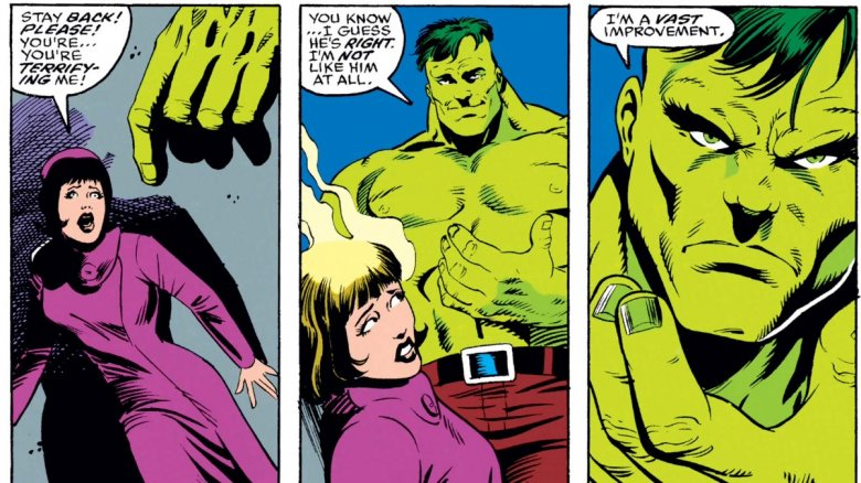 The Professor Hulk coming to think of himself as superior to Bruce Banner in 1992's Incredible Hulk #399