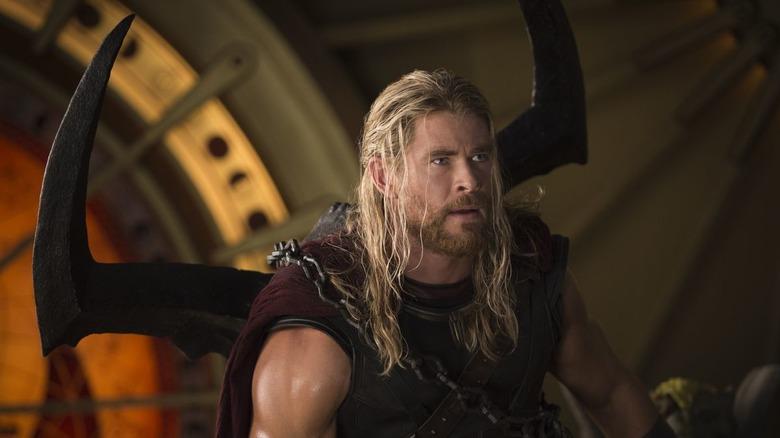 Thor wearing Surtur's crown
