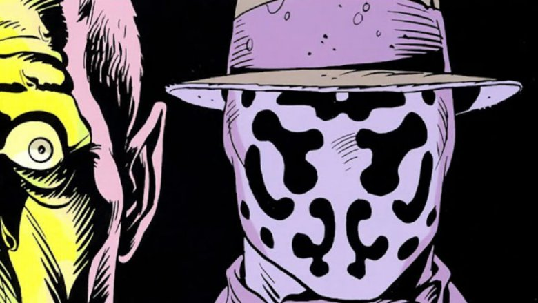 Jacobi realizing Rorchach is behind him, from Watchmen #5