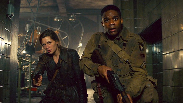 Mathilde Ollivier and Jovan Adepo in Overlord
