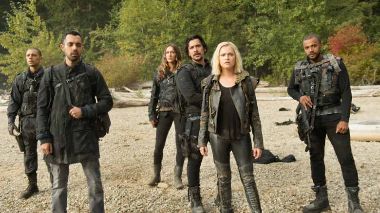 The main cast on The 100