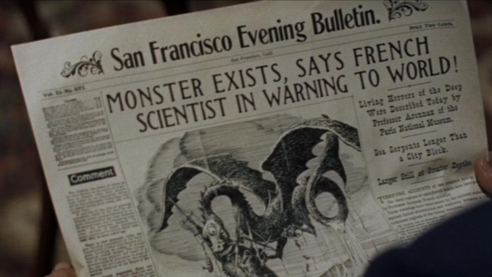 Newspaper with monster headline