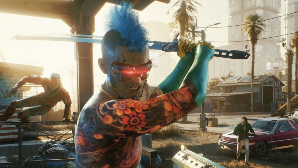 Character in Cyberpunk 2077