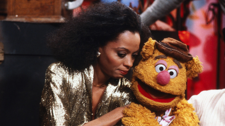 Diana Ross and Fozzie Bear