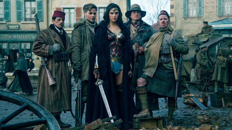 Wonder Woman, Steve Trevor, Gal Gadot, Chris Pine