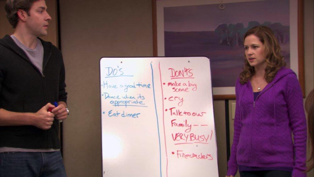 John Krasinski and Jenna Fischer in The Office