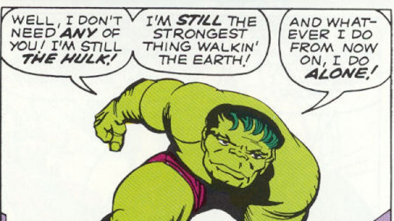 The Hulk quitting the team in Avengers #2