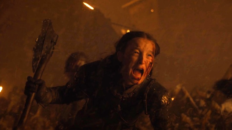 Image result for lady mormont and giant