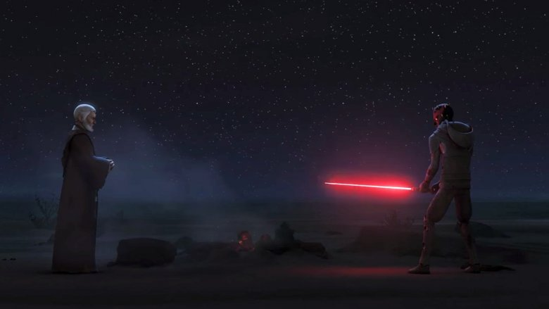 Obi-Wan Kenobi and Darth Maul in Star Wars Rebels