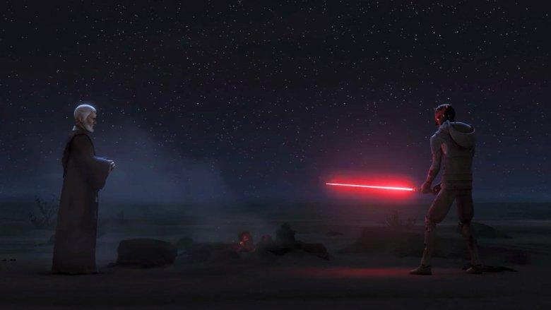 Obi-Wan Kenobi and Darth Maul in Star Wars Rebels