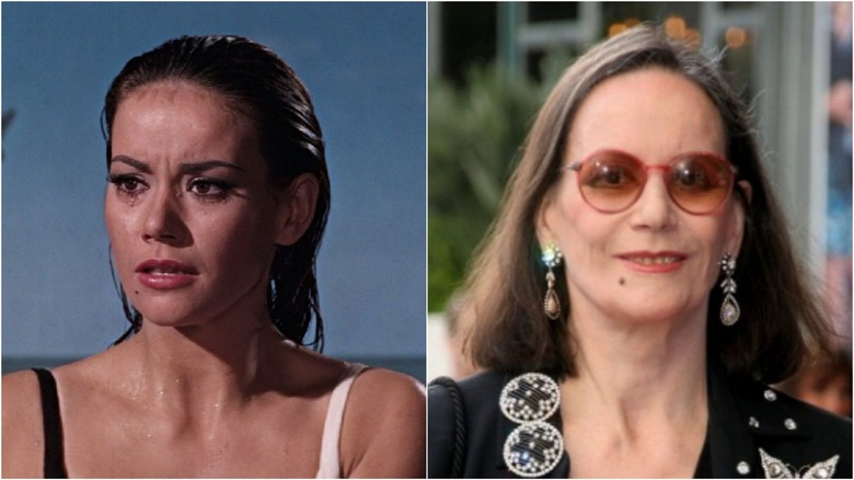 Claudine Auger then and now