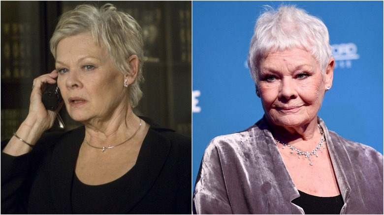 Judi Dench then and now