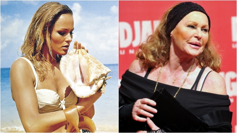 Ursula Andress then and now