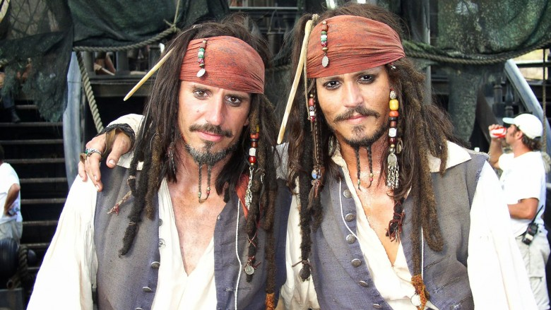 Image result for johnny depp stunt double
