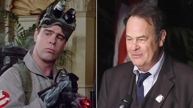 Dan Aykroyd then and now