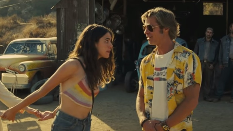 Margaret Qualley and Brad Pitt in Once Upon a Time in Hollywood