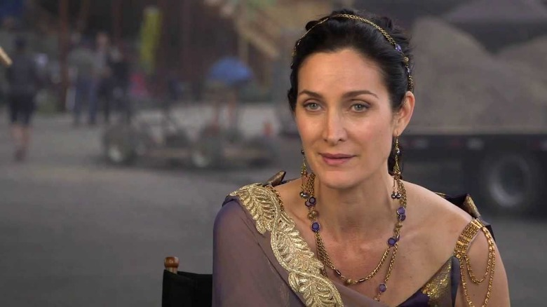 Carrie-Anne Moss in Pompeii