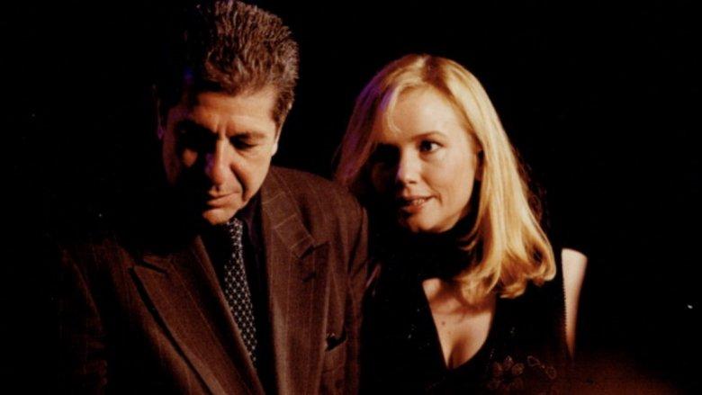 Rebecca De Mornay and Leonard Cohen