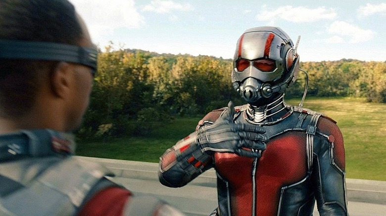 Anthony Mackie and Paul Rudd in Ant-Man