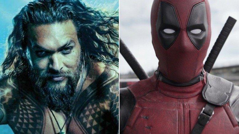 Split image of Aquaman and Deadpool