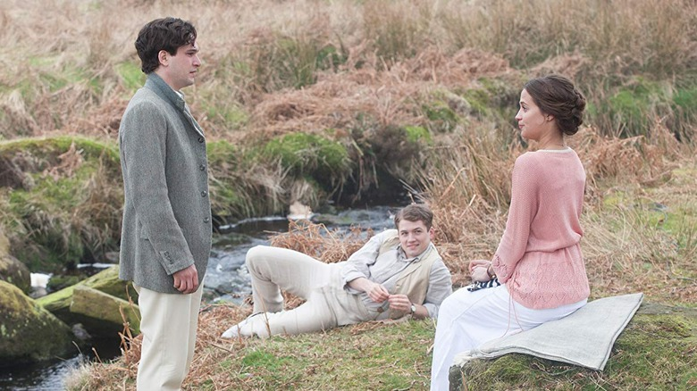 Kit Harrington, Taron Egerton, and Alicia Vikander in Testament of Youth