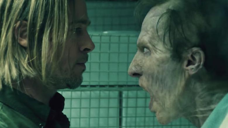 Brad Pitt Faces Zombie
